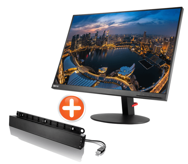Lenovo ThinkVision T24d + Lenovo Soundbar | wunderow IT GmbH | lap4worx.de