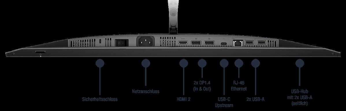 HP-Z27u-G3-QHD-USB-C-Monitor-1B9X2AA-Display-Anschluesse