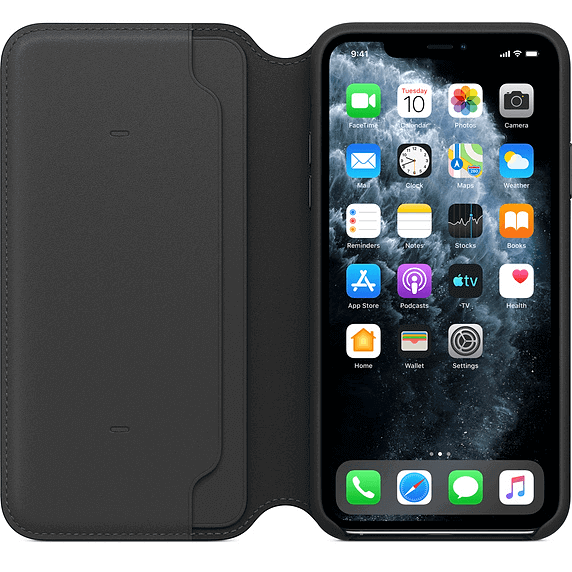Apple iPhone 11 Pro Max Leder Folio Schwarz MX082ZM/A